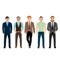 Handsome men in business formal style vector