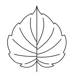 hazel leaf icon outline style vector image