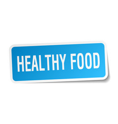 Healthy food square sticker on white vector