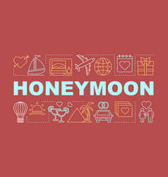 Honeymoon word concepts banner vector