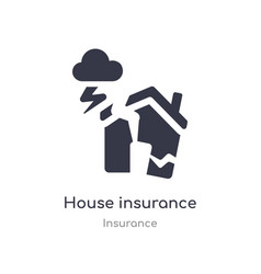 House insurance for storms icon isolated house vector