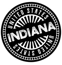 Indiana typographic stamp vector