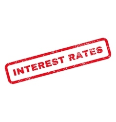 Interest Rates Text Rubber Stamp vector image