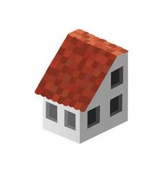 Isometric 3d dimensional skyscraper building vector