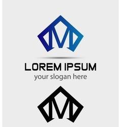 Letter M logo icon design template vector image vector image
