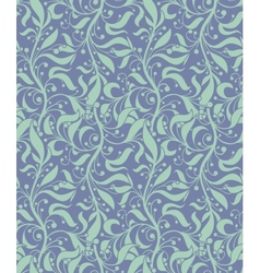 Light Blue Seamless Floral Pattern vector image