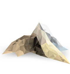 Low poly mountain scene on a white background vector