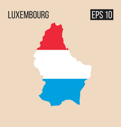 Luxemborg map border with flag eps10 vector