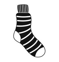 man sock icon simple style vector image