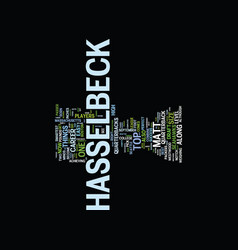 matt hasselbeck draft day pick text background vector image