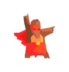 Mole super hero character vector