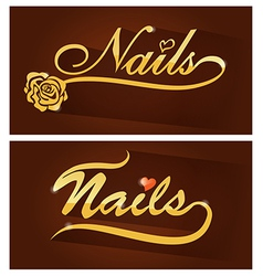 Nails saloon symbol vector