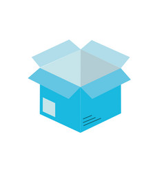 Open box to delivery innovation vector