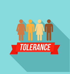 People tolerance logo flat style vector