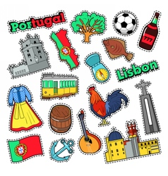 Portugal Travel Elements with Architecture vector