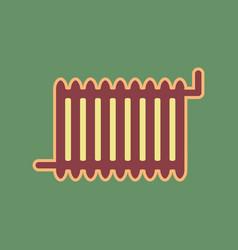 Radiator sign cordovan icon and mellow vector