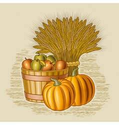 Retro harvest still life vector