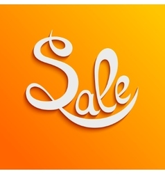 sale orange2 vector image