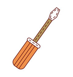 Screwdriver tool isolated icon vector
