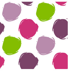 seamless decorative pattern with ink draw circles vector image