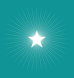 Simple graphic of star burst vector