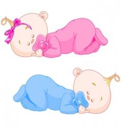 Sleeping babies vector