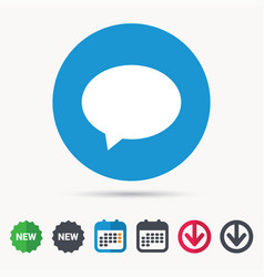Speech bubble icon chat sign vector