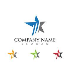 Star logo template icon vector