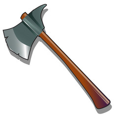 steel axe isolated on a white background vector image