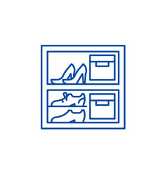 storage of things line icon concept storage of vector image
