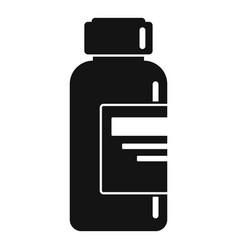 syringe liquid bottle icon simple style vector image