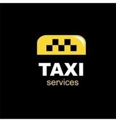 taxi emblem vector image