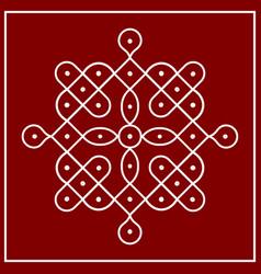 traditional indian folk art - known as rangoli vector image