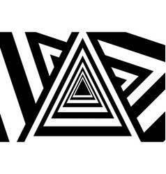 triangles abstract black and white background vector image