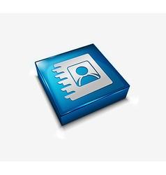 user directory web icon vector image