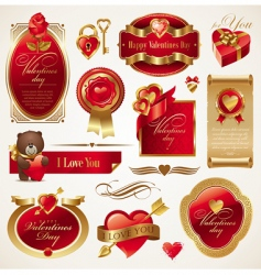 valentines day vector set vector image