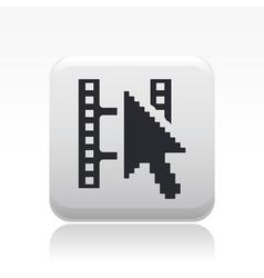 video web playericon vector image