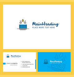 Water evaporation logo design with tagline front vector