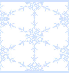 winter seamless background with blue snowflakes vector image