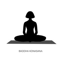 Woman in ardha padmasana or yoga lotus pose vector