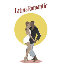 Young couple dancing bachata-02 vector