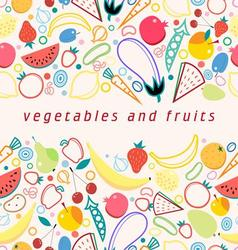 Bright colored seamless pattern fruits vector image
