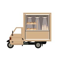coffee car vector image vector image
