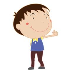 Cute young boy vector image vector image