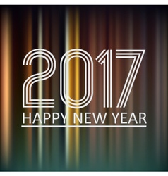 happy new year 2017 on dark color night lines vector image