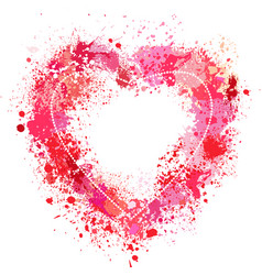 heart shaped frame made of spray vector image vector image