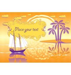 lagoon vector image vector image
