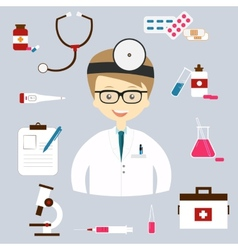 Set of colorful medical icons vector image
