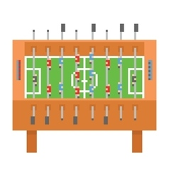 Table soccer pixel art kicker vector image vector image