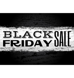Black friday announcement on chalk background vector image vector image